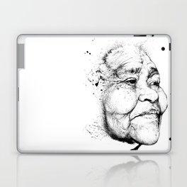 """Gabriela"" of the Kaweskar People B+W Laptop & iPad Skin"