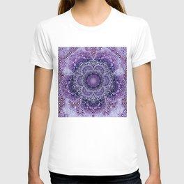 Lilac Boho Brocade Mandala T-shirt