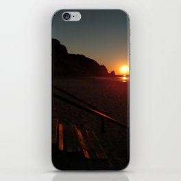 Shack by the sea at sunrise iPhone Skin
