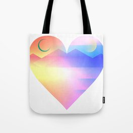 Sunset Heart Tote Bag