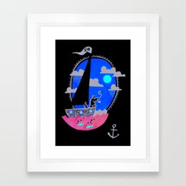 Sea dog Framed Art Print