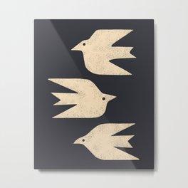 Doves In Flight Metal Print