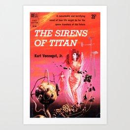 Vonnegut -  The Sirens of Titan Art Print