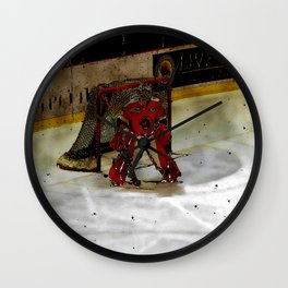 Life Goals - Ice Hockey Goalie Motivational Art Wall Clock