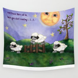Counting Sheep Wall Tapestry