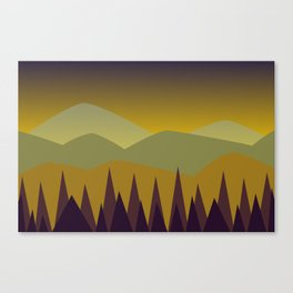 Dusk | Stylized Digital Landscape Canvas Print