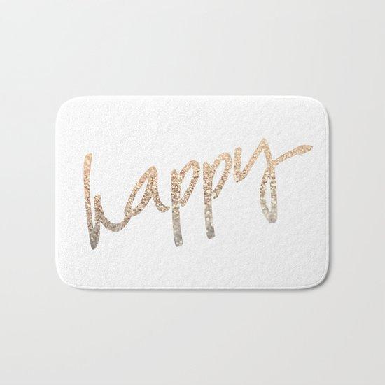 GOLD HAPPY Bath Mat