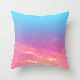 Pink Golden Skies Throw Pillow
