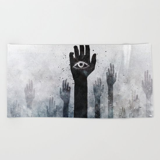 Hands & Eyes #Abstract Beach Towel