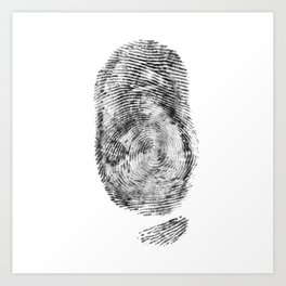 Detective Thumb Art Print