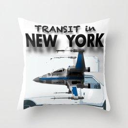 Transit in New york City Throw Pillow