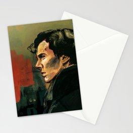 BBC Sherlock Holmes - Benedict Cumberbatch - Painting Print Poster Stationery Cards