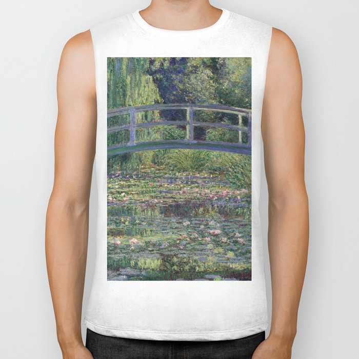 Water Lilies and the Japanese Bridge by Claude Monet Biker Tank