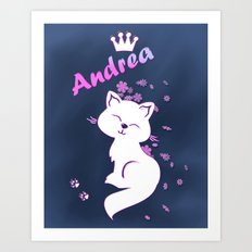 Name Andrea Art Print