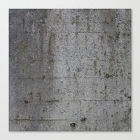 concrete Canvas Prints featuring Concrete by Jeanette Nilssen