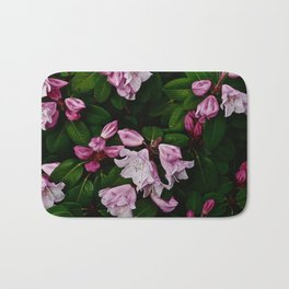 Spring Pink Rhododendron Bath Mat