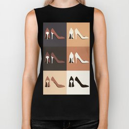 heel shoes-ıv Biker Tank