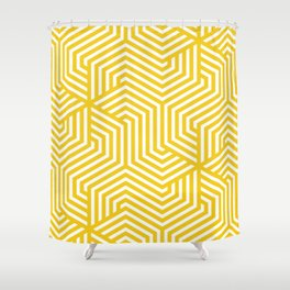 Jonquil - yellow - Minimal Vector Seamless Pattern Shower Curtain