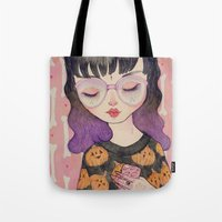 pumpkin Tote Bags featuring Pumpkin by lOll3