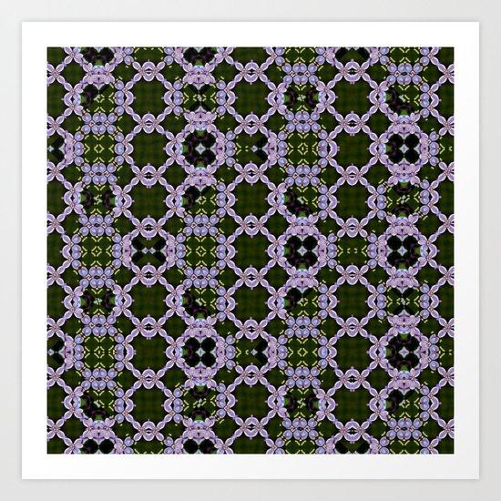 lilac blossom patterns Art Print