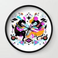 hocus pocus Wall Clocks featuring Hocus Pocus! by Muxxi