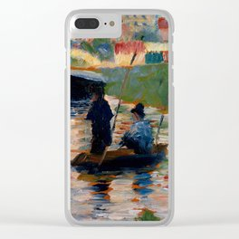 """Georges Seurat """"View of the Seine"""" Clear iPhone Case"""
