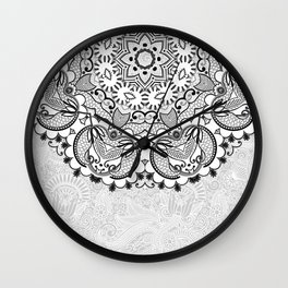 Mandala BW Wall Clock