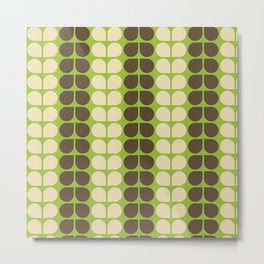 Retro leaf Metal Print