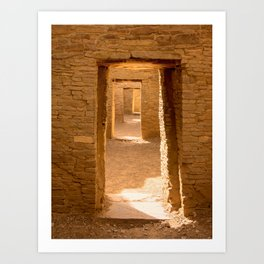 Chaco Ancient Doors Art Print