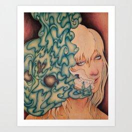 Seeping Art Print
