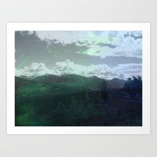 Moody Wanderer Art Print