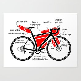 Bikepacking Art Print