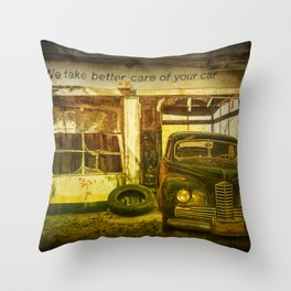 We take Better Care of Your Car Throw Pillow