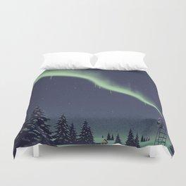 Winter Painting Duvet Cover