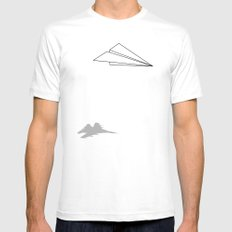 Paper Airplane Dreams White Mens Fitted Tee MEDIUM