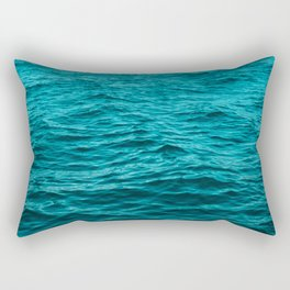 water surface, ocean wave photo - landscape photography Rectangular Pillow