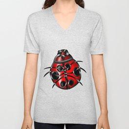 Ladybug Unisex V-Neck