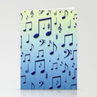 music notes Stationery Cards featuring Music notes by Gaspar Avila