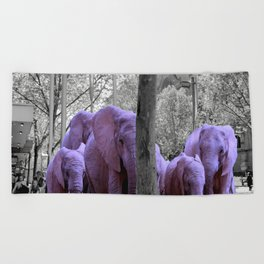 Purple guests Beach Towel