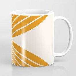 Minimal Fall Leaf Gold Coffee Mug