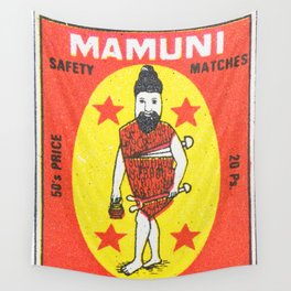 Old Matchbox label #11 Wall Tapestry