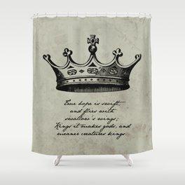 Shakespeare - Richard III - Kings it Makes Gods Shower Curtain