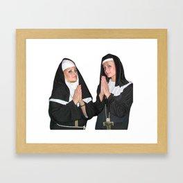 Saint Paris Hilton and Nicole Richie Framed Art Print