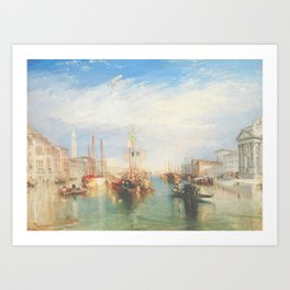 Venice from the Porch of Madonna della Salute by Joseph Mallord William Turner ca. 1835, British Art Print