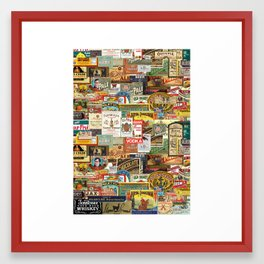 Labels Framed Art Print