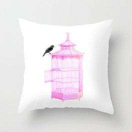 Brooke Figer - PRETTY smart BIRD Throw Pillow