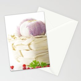 Garlic and hot pepper Stationery Cards