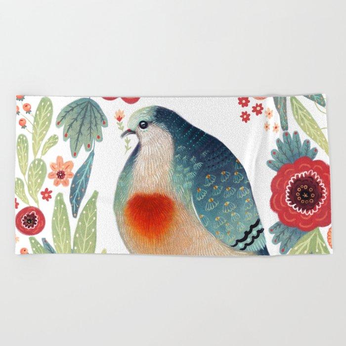 Fruit Dove I Beach Towel