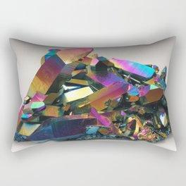 Titanium Rainbow Aura Quartz 1 Rectangular Pillow