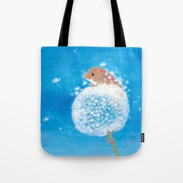 Harvest mouse on the Dandelion Tote Bag